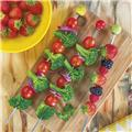 Pics brochettes Inox barbecue Hot Pop Zak! Taille S - Les 4 Rouge