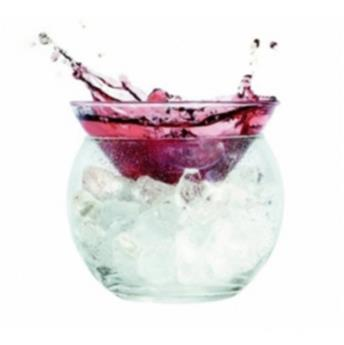 CHILLER Coupelle  2 piéces en verre Verrine Cocktail Martini Caviar