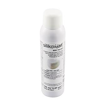 Spray Colorant alimentaire Effet Velours SilikoMart Blanc