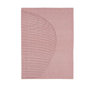 Torchon de cuisine Tea Towel Cercles Zone Rouge