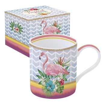 mug porcelaine flamingo flamant rose la casserolerie. Black Bedroom Furniture Sets. Home Design Ideas