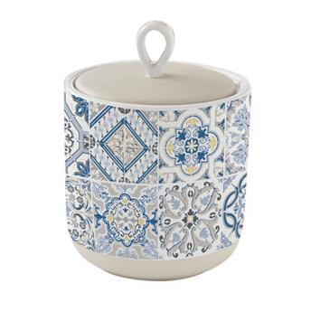 CASA DECOR Pot de rangement Conservation en Porcelaine D 11 cm Bleu