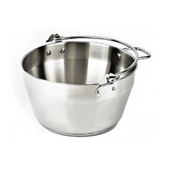 Bassine à Confitures Inox Chaudron de cuisson Induction D24