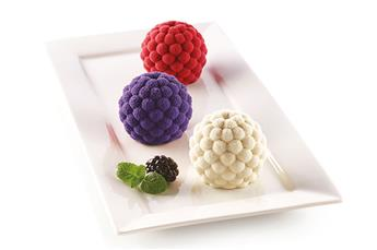 SEGRETI DEL BOSCO Fruits rouges moule en silicone SilikoMart 3Design les 6