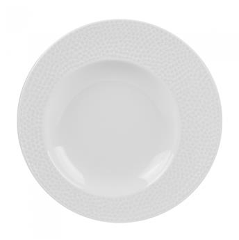 ELLIPSE Assiette Creuse en Porcelaine à relief D23