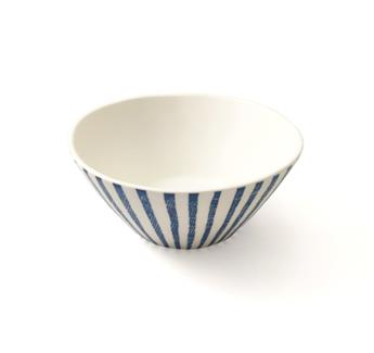 BLUE BREEZE Bol Coupelle Porcelaine Easy Life D16,5 Blanc