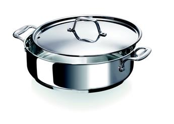 CHEF Cocotte inox 2 anses + couvercle inox BEKA D28